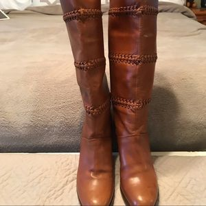 Brown Coach boots in size 5